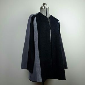 Vintage 60's Black & Gray Open Swing Cardigan